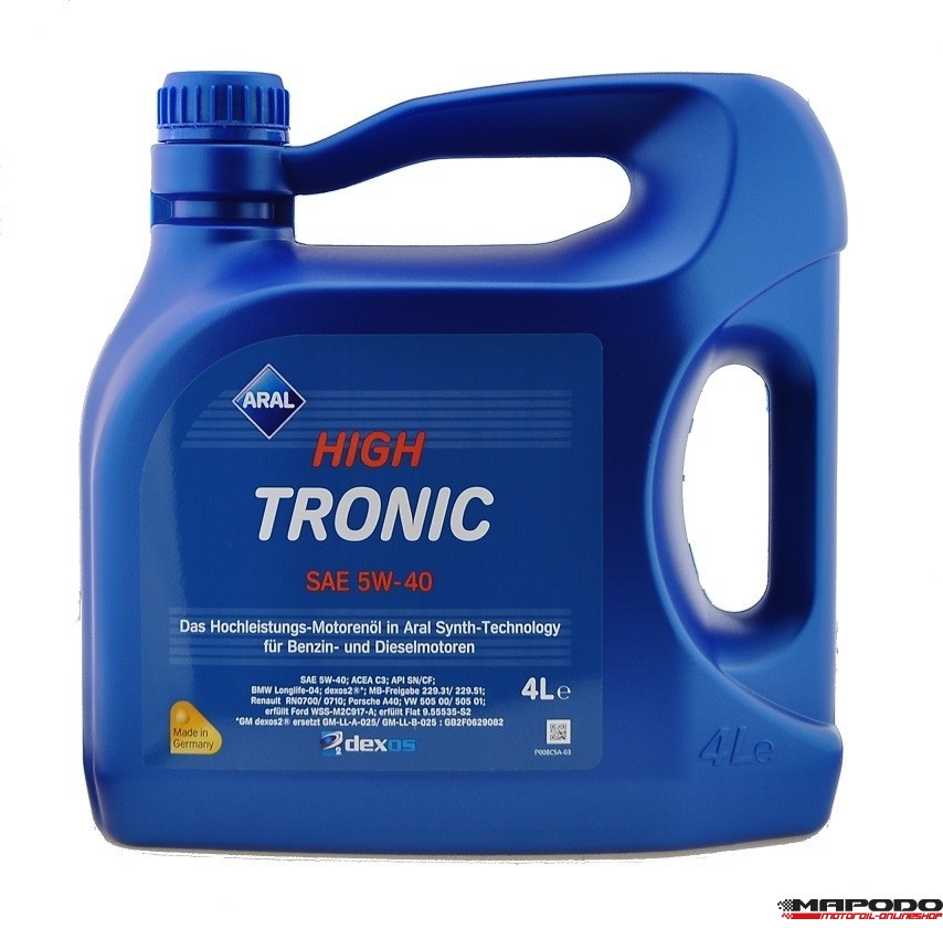 ARALHIGH TRONIC NEW 5W-40 50501 3/4L